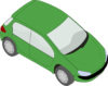 Green Small Car Clip Art