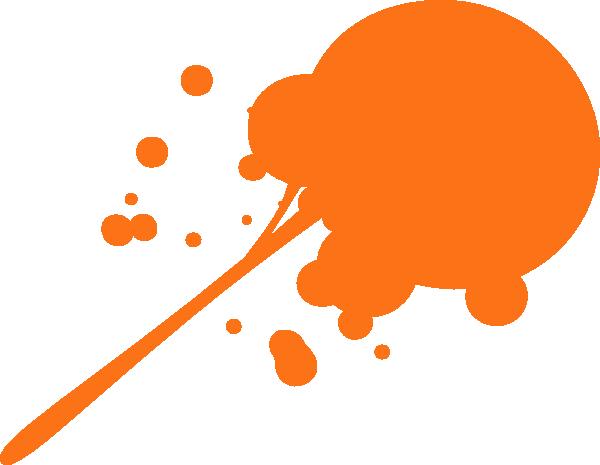 Orange Paint orange paint sploge clip art at clker - vector clip art online
