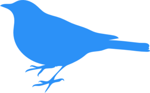 Bird blue. Baby clip art at