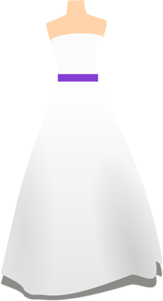 Purple wedding dress clip art at clker com vector clip art online