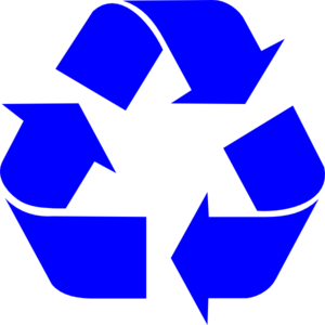Blue Recycle Arrows Clip Art