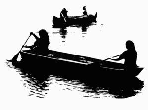 Boating Bw Clip Art
