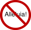 Alleluia! Prohibited During Lent Clip Art