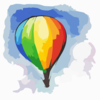 Hot Air Balloon Card Back Clip Art