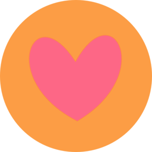 Heart In Circle Orange Clip Art