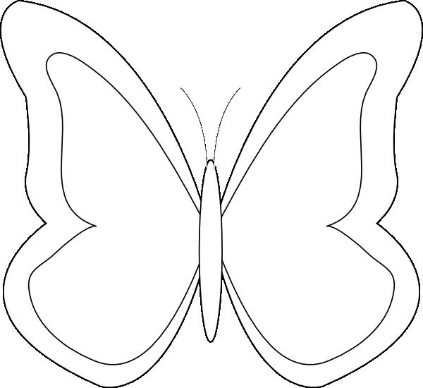 Butterfly Outline Clip Art at Clker.com - vector clip art ...