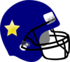 Football Helmet-star On It Clip Art