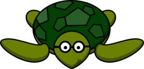 Turtle With Glasses Clip Art