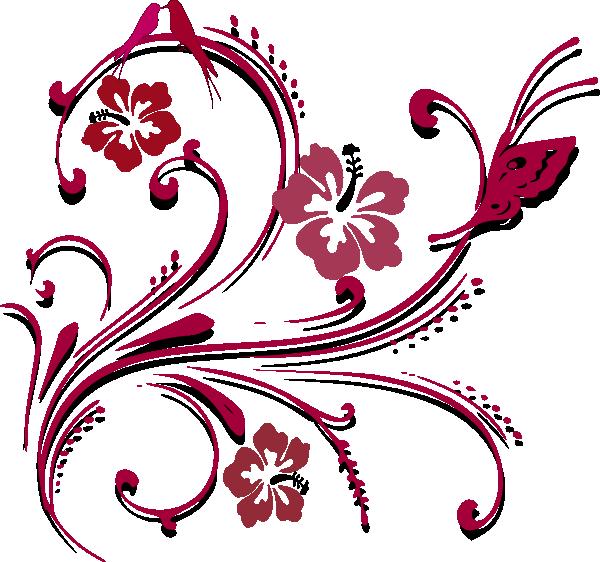 butterfly scroll clip art at clker com vector clip art online  royalty free   public domain hydrangea clip art b&w hydrangea clip art border free