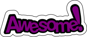 Awesome In Purple Clip Art