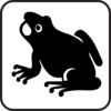Frog Sign Clip Art