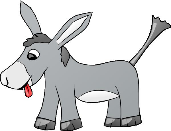 donkey clip art at clkercom vector clip art online