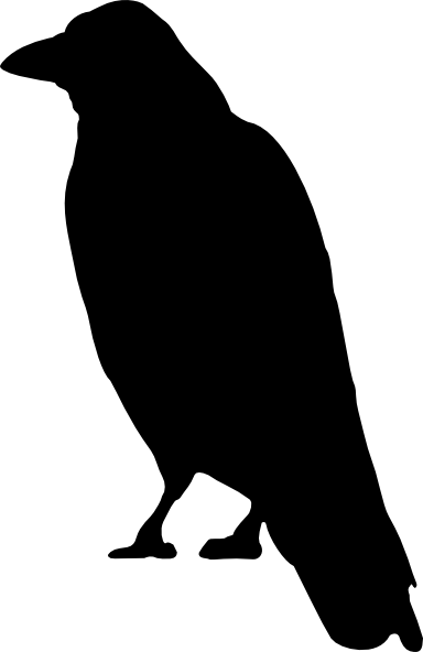 Crow Silouette Black Clip Art At Clker Com Vector Clip
