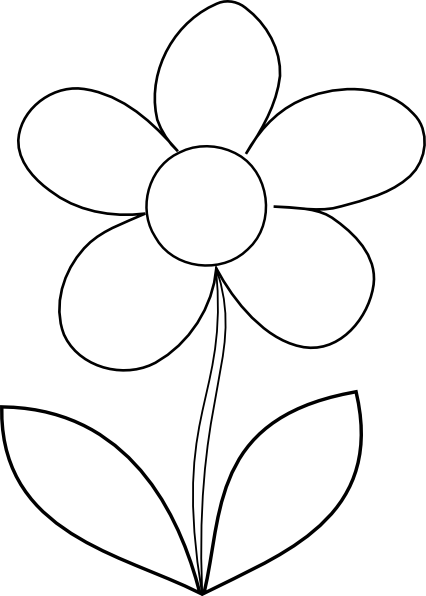 clear flower clip art at clker com vector clip art online royalty rh clker com flower black and white clipart images flower clipart black and white