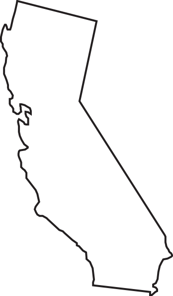 Soft image in california outline printable