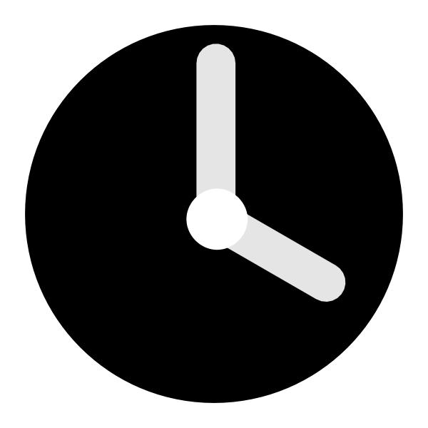 Black Clock Clip Art at Clker.com - vector clip art online ...