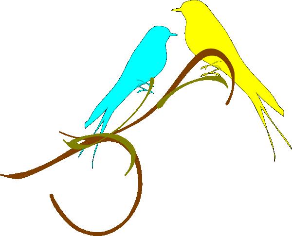 love birds on a branch clip art at clker     vector clip