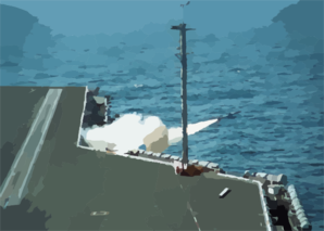 A Nato  Sea Sparrow  Missile Launches From Aboard Uss George Washington (cvn 73) Clip Art