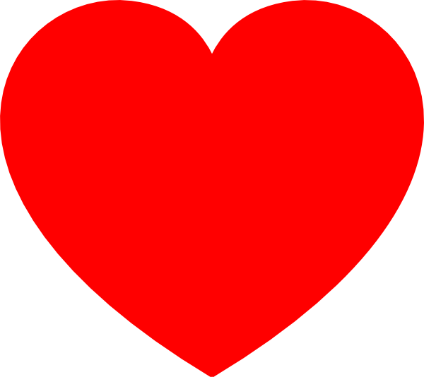 Red Heart Clip Art at ...