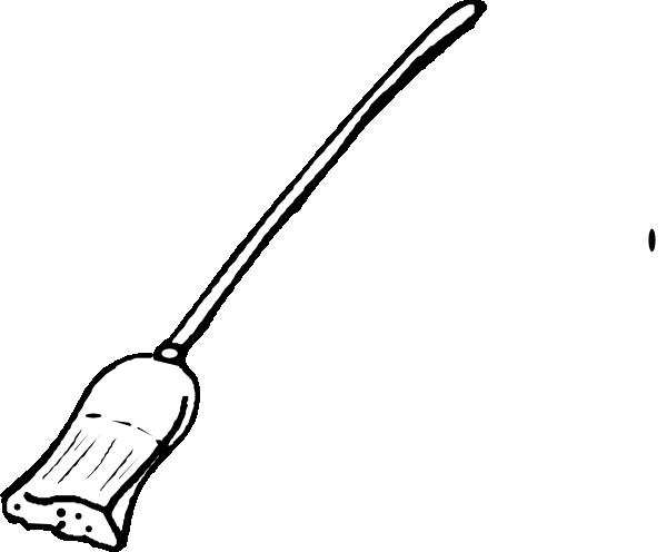 Broom Outline Clip Art at Clker.com - vector clip art online, royalty ...