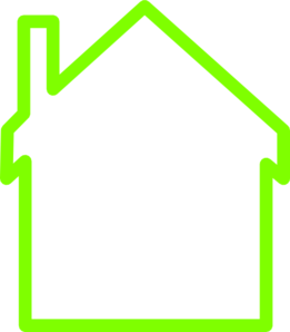 Green House White Middle Clip Art