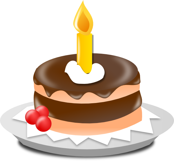 Birthday Cake And Candle Clip Art at Clker.com - vector ...