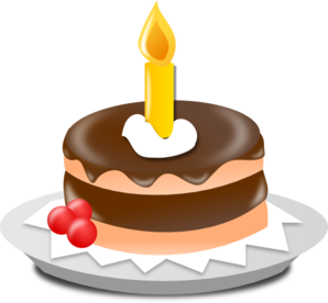 Birthday Cake And Candle Clip Art