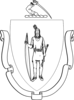 Mass State Seal Outline Clip Art
