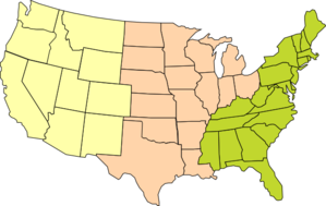 Three-region U.s. Map Clip Art