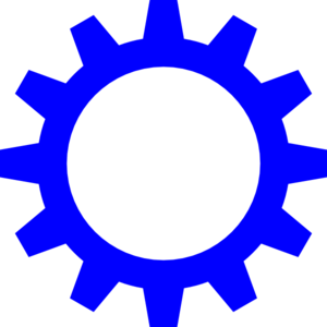 Blue Cog Wheel Clip Art