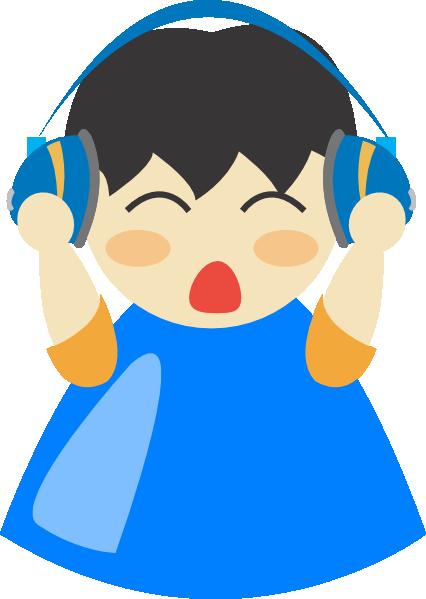 Headphone Blu Boy Clip Art at Clker.com - vector clip art online ...