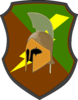Lightning Spartan Shield Clip Art