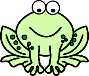 Two Tone Frog Clip Art