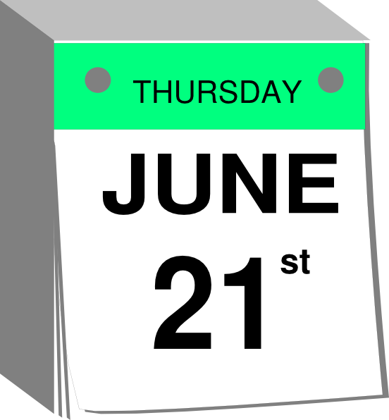 June Calendar Clip Art : June calendar clip art at clker vector