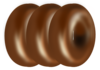 Three Donuts On Edge Clip Art