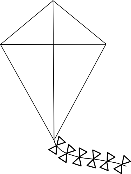 kite outline clip art at vector clip art online royalty free public domain. Black Bedroom Furniture Sets. Home Design Ideas