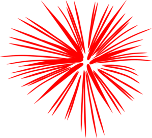 Red Firework July Clip Art
