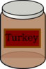 Turkey Baby Jar Clip Art