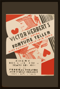 Victor Herbert S Comic Opera  Fortune Teller  With Famous  Gypsy Love Song  Clip Art