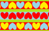 Strippy Hearts Clip Art
