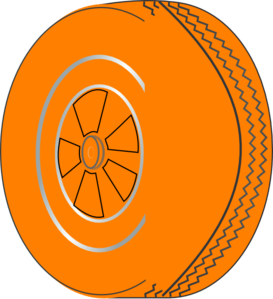 Orange Wheel Clip Art
