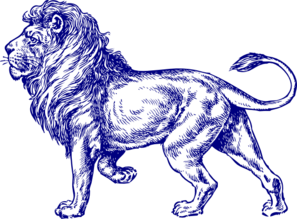 Navy Lion Full Clip Art