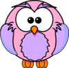 Pink And Purple Owl Clip Art