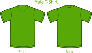 Plain T-shirts Green Clip Art