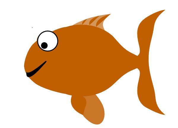 brown happy fish clip art at clker com