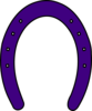 Purple Horse Shoe Clip Art