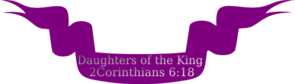 Daughters Of The King Ribbon Banner 2 Clip Art