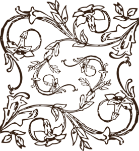 Brown Filligree Clip Art