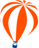 Orange Hot Air Balloon Clip Art