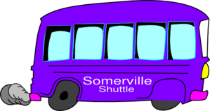 Somerville Purple Bus Clip Art
